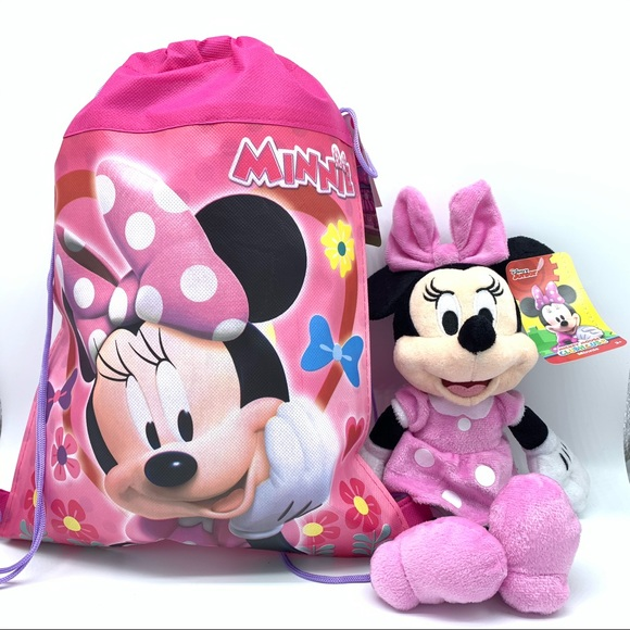 """Minnie mouse Plush 11"""" with Minnie Mouse bag"""